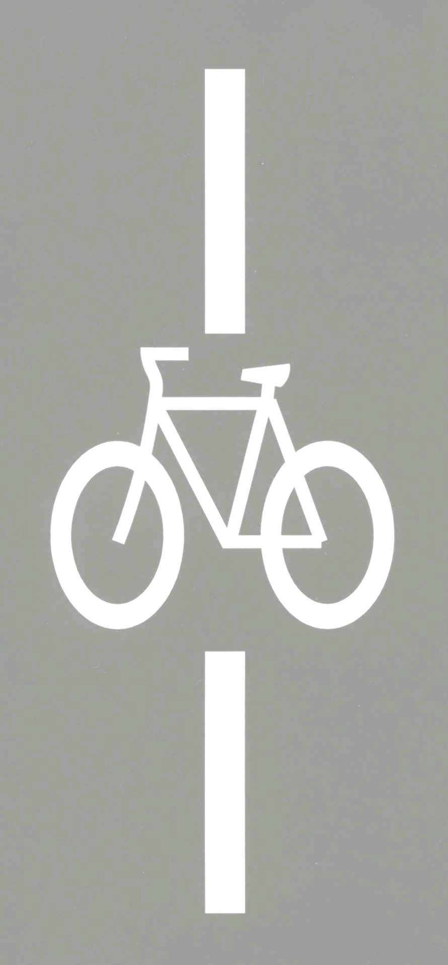 Bike Stencil for Intersection Loop Detector
