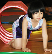 Child, Asian Girl Gymnastics