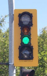 Close-up of Green Traffic Signal