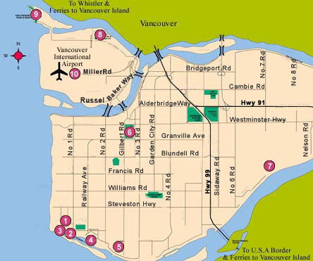 Richmond Canada Map City of Richmond BC   Find it on the Map