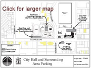 City Hall & Surrounding Area Parking Map