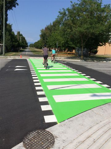 Raised Crosswalk with Green Treatment