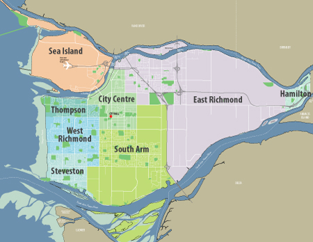 City of Richmond BC Parks Overview Map