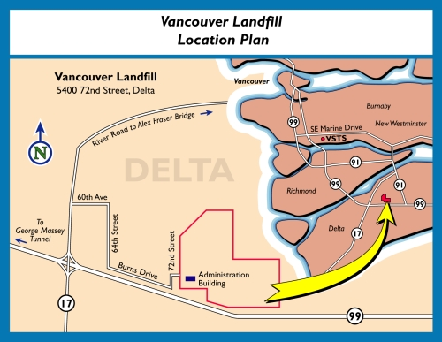 Vancouver Landfill Map