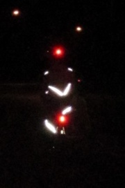 cyclist with lights