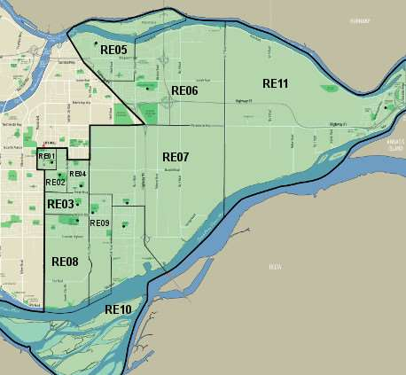 Richmond East Voting Divisions Map