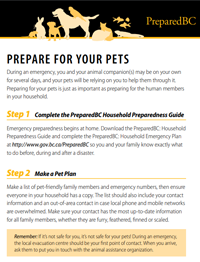 Prepare for Your Pets