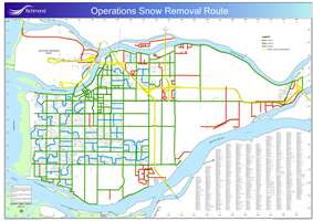 Snow Response Route Map Picture
